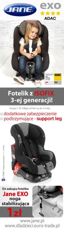 Fotelik z ISOFIX 3 GENERACJI - PROMOCJA!